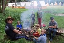 Stopaři na jednom ze svých letních táborů.