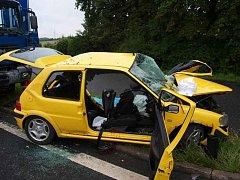 Tragická nehoda u Kdyně, pondělí  4. července.