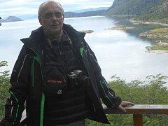 Ladislav Lešický při svém pobytu v Antarktidě.