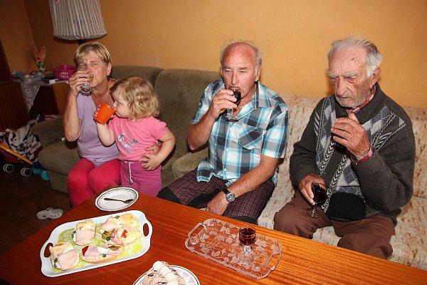 Malé posezení vFrantiškem Veberem upříležitosti jeho devadesátin.