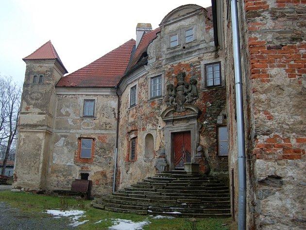 Zákoutí poběžovického zámku.