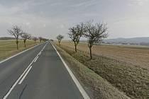 Silnice I/22 mezi Draženovem a Domažlicemi.