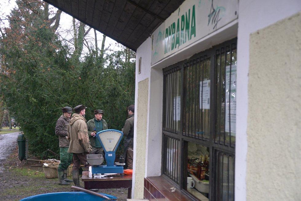 Předvánoční prodej ryb finišuje.