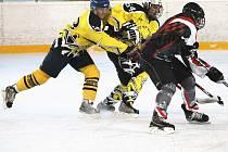 Z utkání hokejistů HC HP Sršni Domažlice a Ice Barons Waldmünchen.