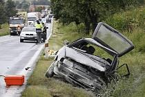 Dopravní nehoda dvou osobních aut u Semošic.