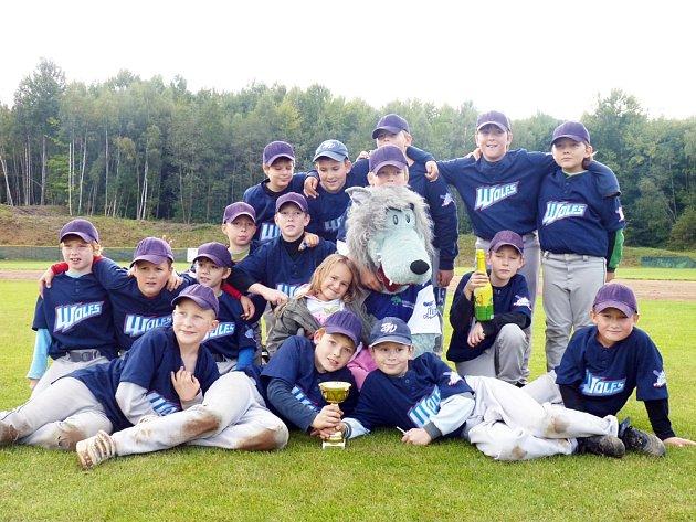 Mladí baseballisté Wolfs Domažlice.