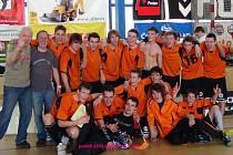 Radost mladých florbalistů Domažlic byla po utkání s Toužimí obrovská, vždyť vyhráli III. ligu!