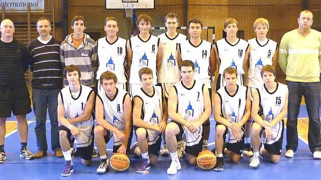 Basketbalisté U 19 Jiskry Domažlice.
