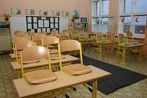 Jedna ze tříd Základní školy v Blížejově.