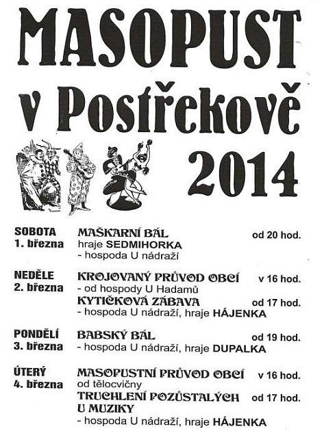 Program Masopustu 2014