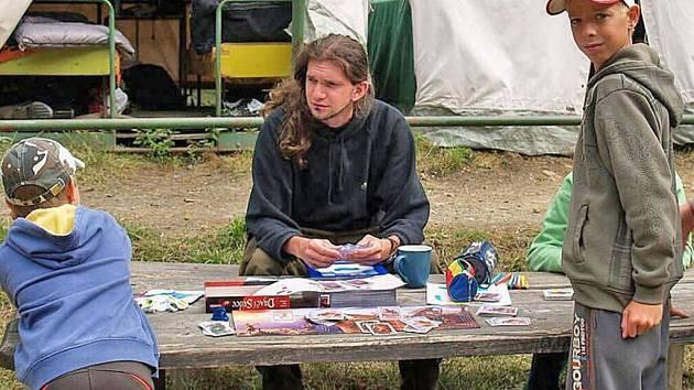 Z letního tábora na Rudolfově Pila za Pecí pod Čerchovem.