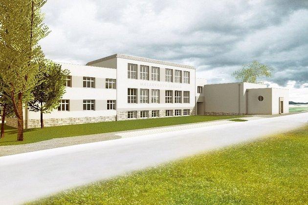 VIZUALIZACE rekonstrukce budovy školky.