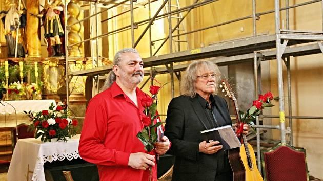 Lubomír Brabec a Daniel Hůlka vystoupili v klenečském kostele.