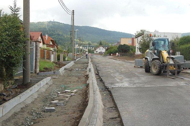 Ulice Pod Korábem ve Kdyni.