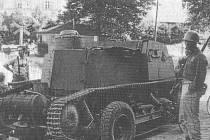 Tento tank vlastnoručně upravil Václav Uhlík ze Stoda, následně s ním překročil hranice.