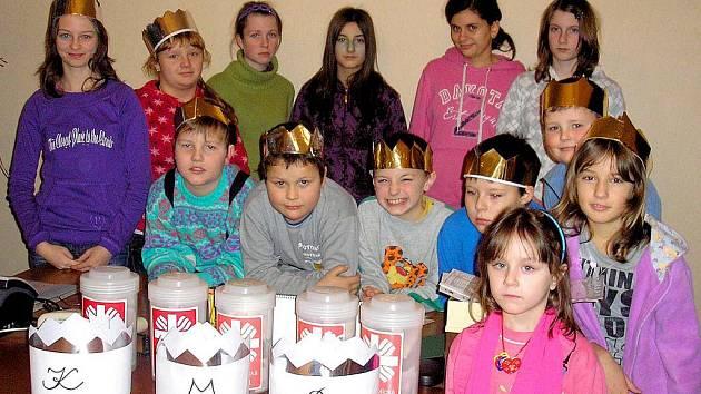 Koutští malí králové vykoledovali téměř padesát tisíc korun.
