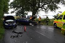 Havárie tří osobních aut u Hostouně na Domažlicku.