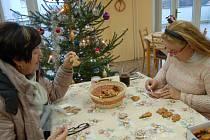 JITKA HEŘMANOVÁ pravidelně před Vánoci zdobí perníčky v domažlickém Městském centru sociálních služeb.