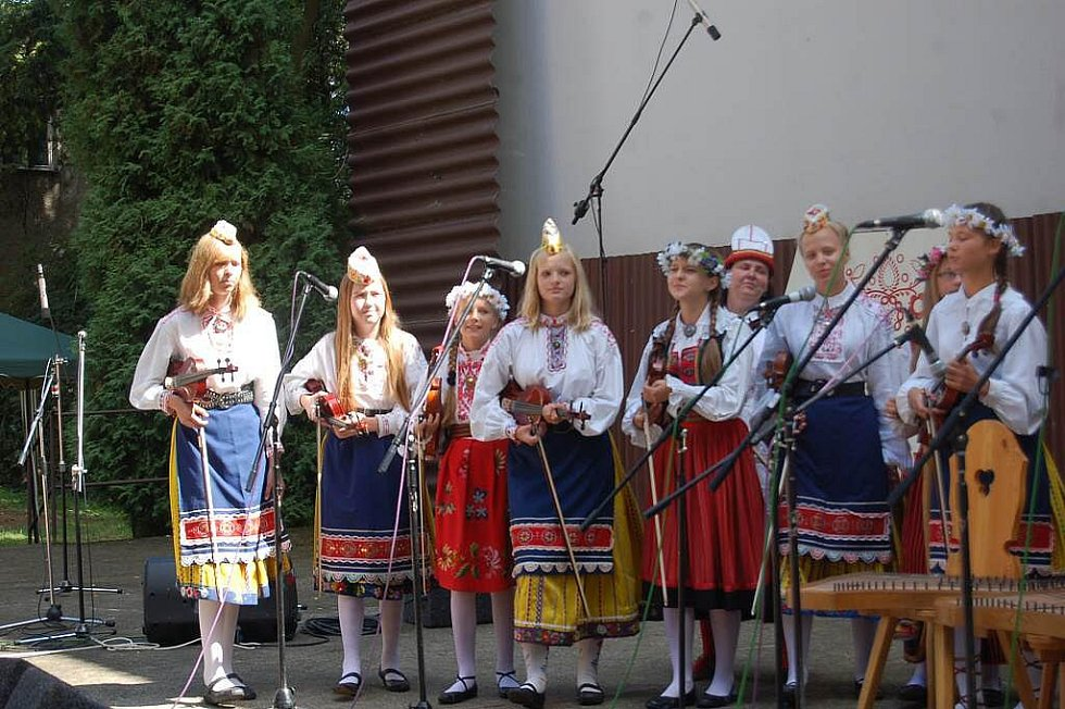 """Pořad """"Chodsko vypráví"""" v Letním kině v Domažlicích."""