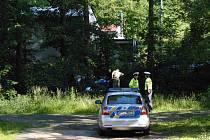 Policisté místo na zhruba dvě hodiny uzavřeli. Silnice byla obehnána páskou, z druhé strany Zubřiny hlídkovali dva dopravní policisté.