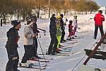 Lyžařské závody v Loučimi.