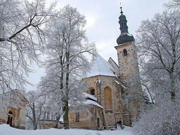 Kostel sv. Anny na Vršíčku.