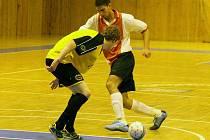 Z utkání divizních futsalistů Ajaxu Staňkov a Rejnici Nemanice s Otovicemi a karlovarskými Draky.