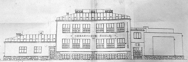 Předválečná podoba holýšovské školky, tehdy ještě Masarykovy školy.