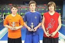 MICHAEL KOTAL z TJ Havlovice (vlevo) skončil ve finále Poháru mladých nadějí na jediné osmidráze u nás druhý. Vyhrál Mojmír Holec z Dačic, třetí byl Ondřej Lepka z Rychnova.
