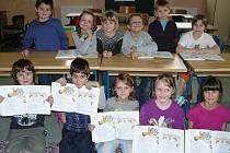 Budoucí prvňáčci se mezi svými staršími kamarády cítili ve všerubské základní škole jako doma.