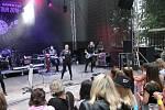 Z koncertu Michala Davida v Domažlicích.