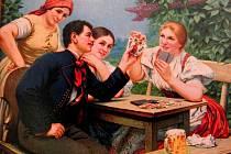 PROPAGACE. Část plakátu, jímž se snažil r. 1929 upoutat pozornost na své produkty parní pivovar v Koutě na Šumavě.