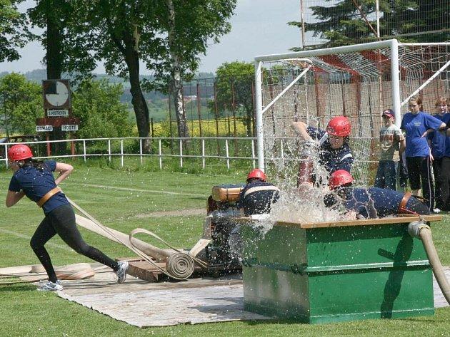 Soutěž okrsku dobrovolných hasičů v Postřekově