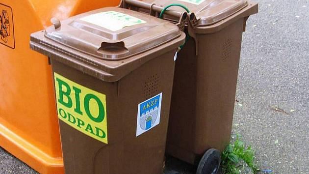 Nádoby na bioodpad.