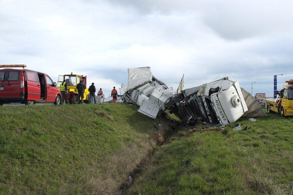 Nehoda kamionu u Meclova.