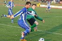 Z utkání fotbalistů Jiskra Domažlice a FC Chomutov.