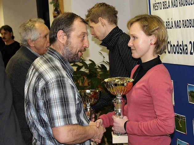 Vyhlášení seriálu Běžec Chodska 2011 v Bělé nad Radbuzou.
