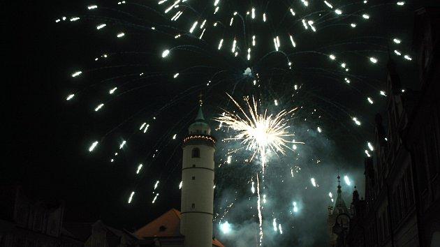 Novoroční ohňostroj v Domažlicích 2020