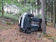 Řidič se naštěstí nezranil.
