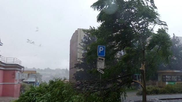 Domažlice, ulice Msgre B. Staška.