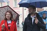 Milion chvilek pro demokracii v Domažlicích.