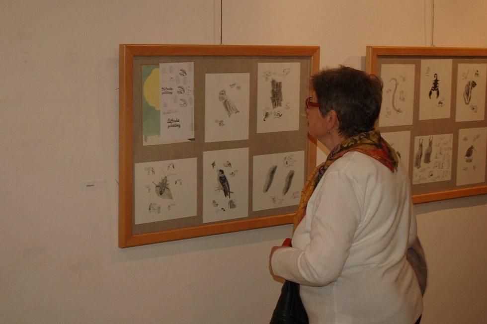 Vernisáž výstavy Alžběty Skálové v domažlické Galerii bratří Špillarů.