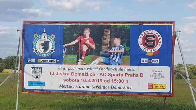 Na úvod nové mistrovské sezony okresních fotbalových týmů přijede do Domažlic pražská Sparta!