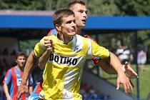 Fotbalisté Jiskry Domažlice se loučili s fanoušky přátelským utkáním s FC Viktoria Plzeň.