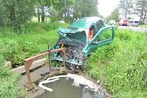 Nehoda na 'koutské dálnici'.
