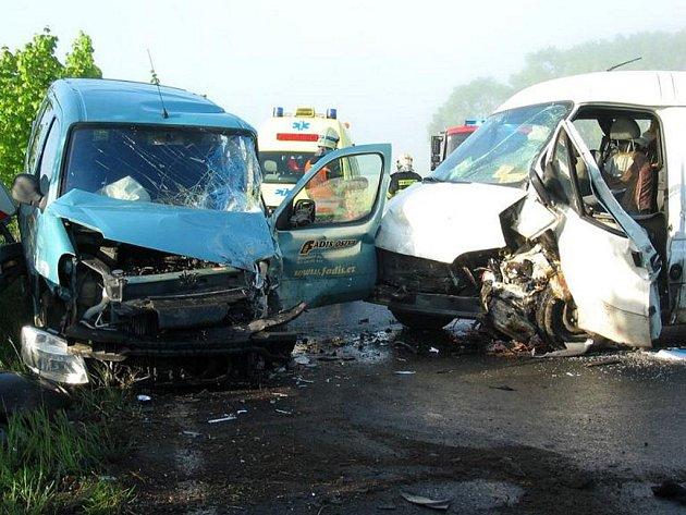 Dopravní nehoda u Horšovského Týna.