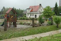 Pondělní velká voda v Horšovském Týně.