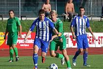 Z utkání Jiskry Domažlice s 1. FC Karlovy Vary.