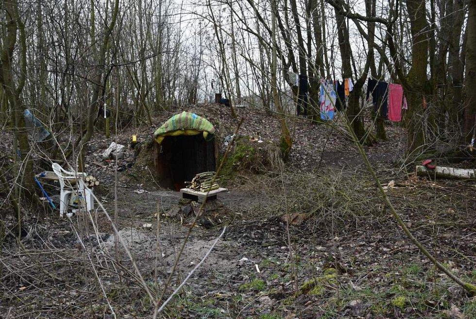 Příbytky domažlických bezdomovců.