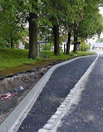 Zrekonstrukce silnice vhorní části Klenčí.